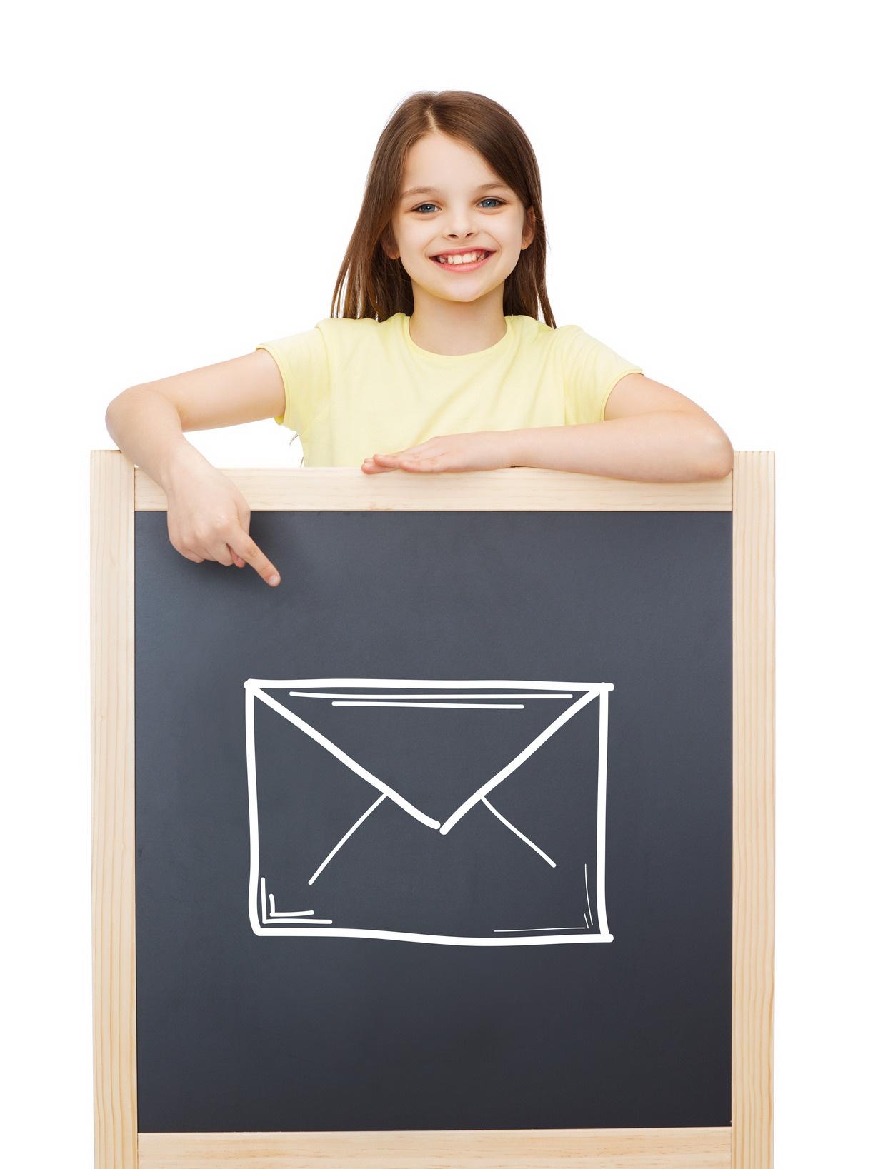 Girl blackboard envelope.jpg